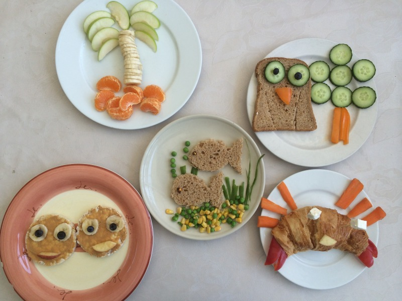 Getting creative with food for kids:)