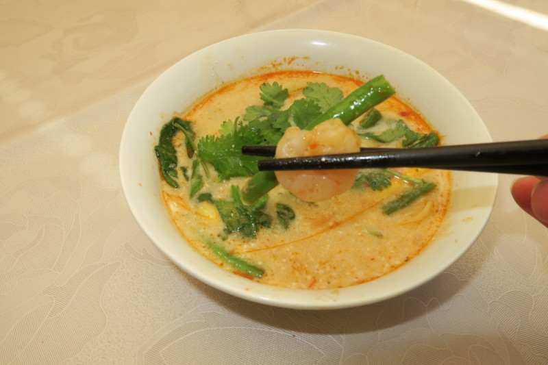Prawn Thai Soup, the healthy way