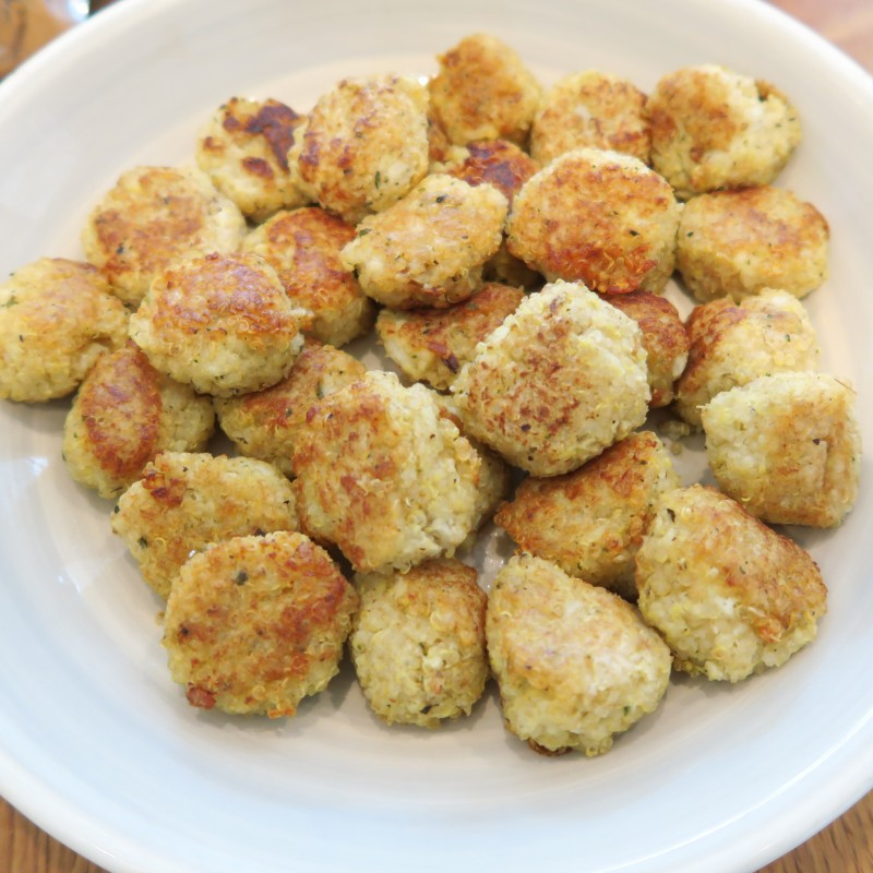 Quinoa and cauliflower balls