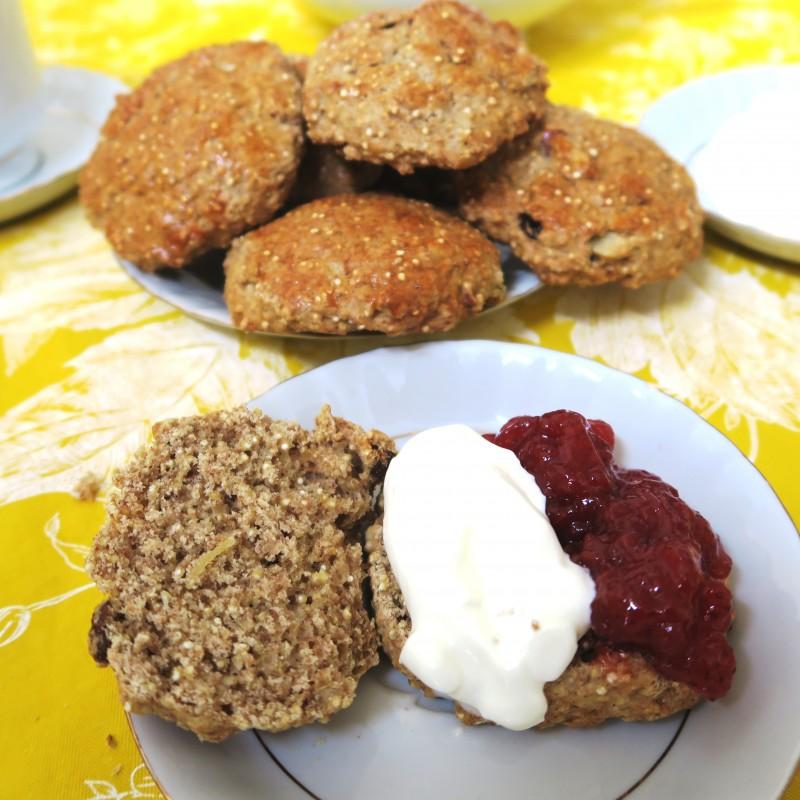 gluten-free quinoa scones