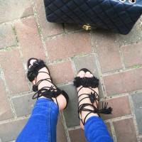 Zara black sandals..