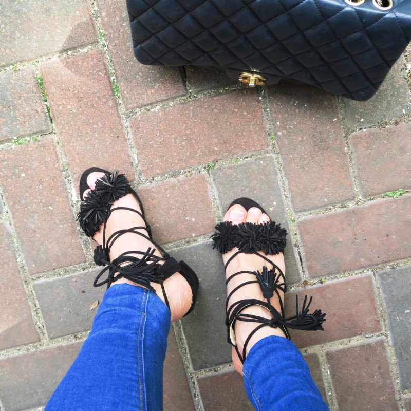 Zara black sandals with tassels have got me really excited for the Summer