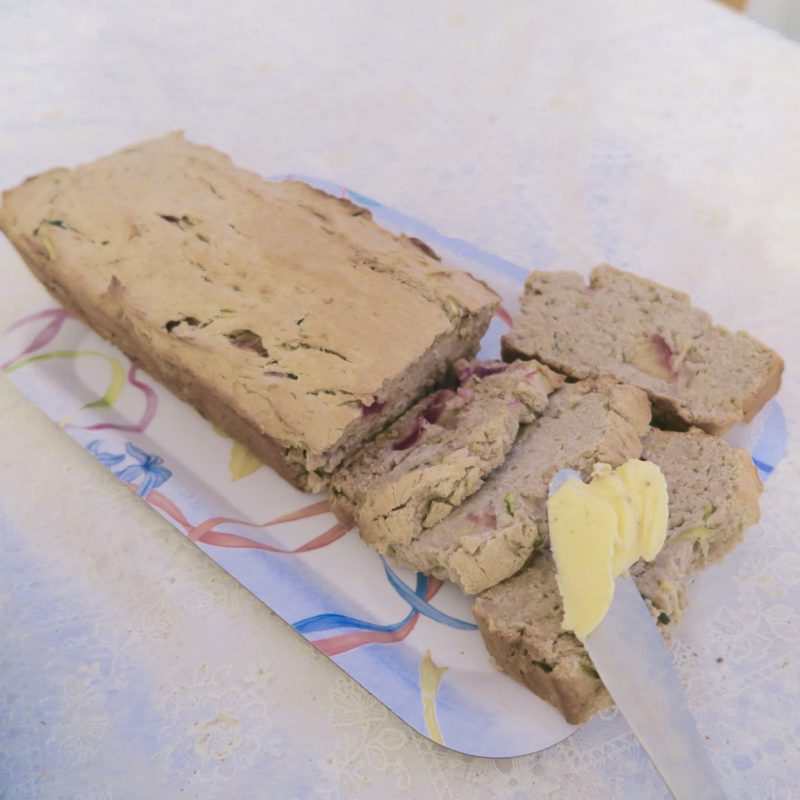Gluten-free wheat-free banana and zucchini bread