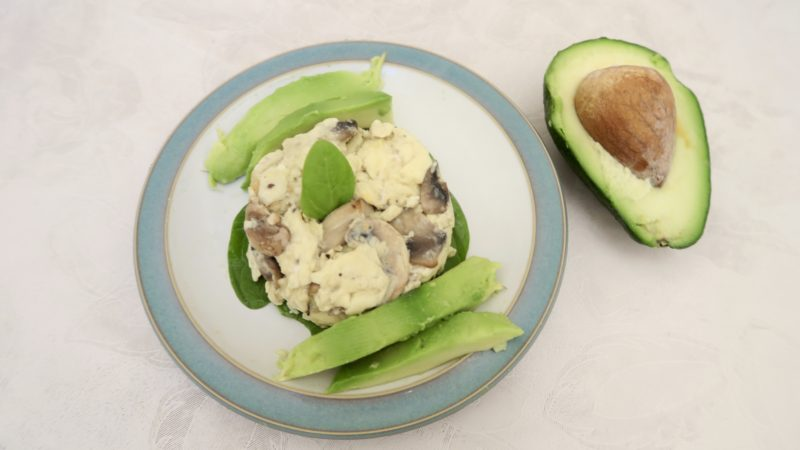 Avocado and eggs, protein for breakfast