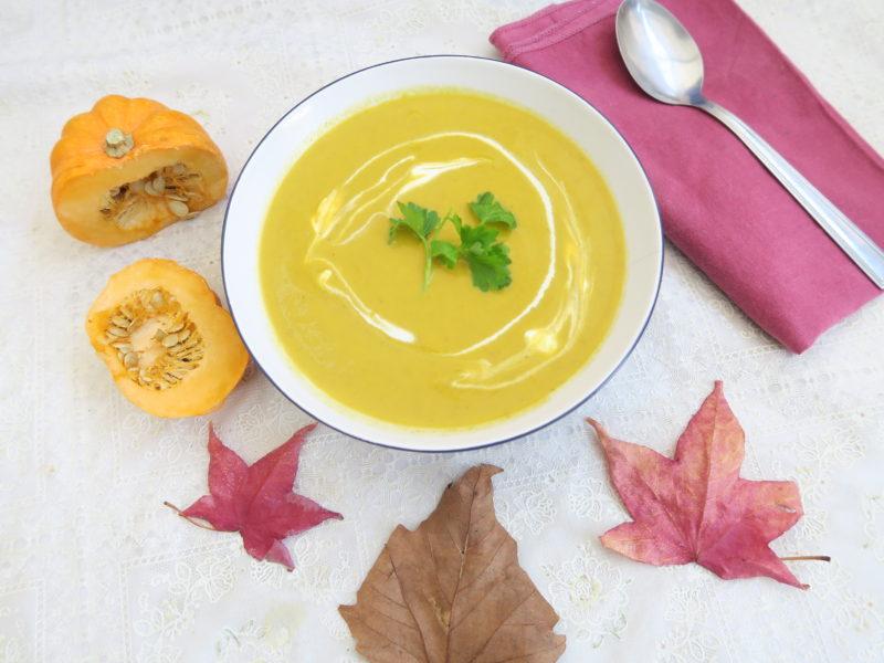 Autumn pumpkin and carrot soup