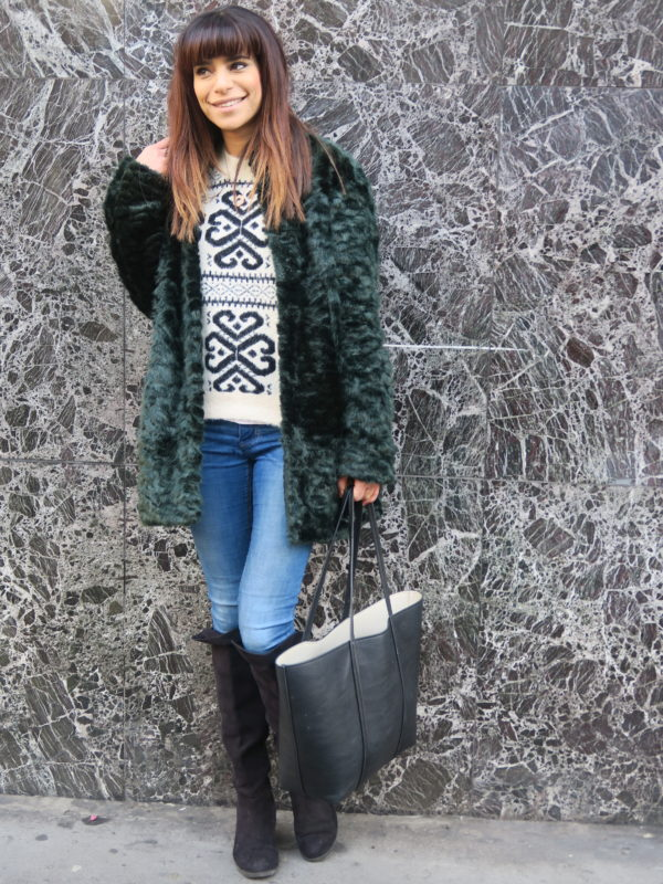 Green Christmas Winter jacket-MyCityMyLondon