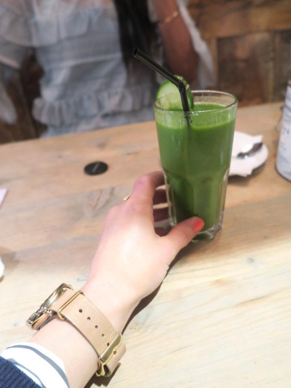 Brunch at Bill's, green juice