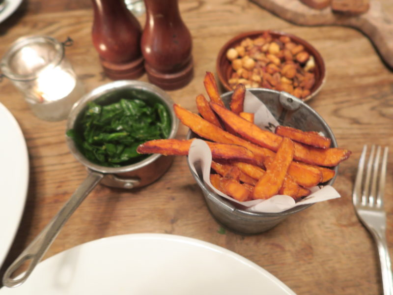 sweet potato at Bumpkin south kensington