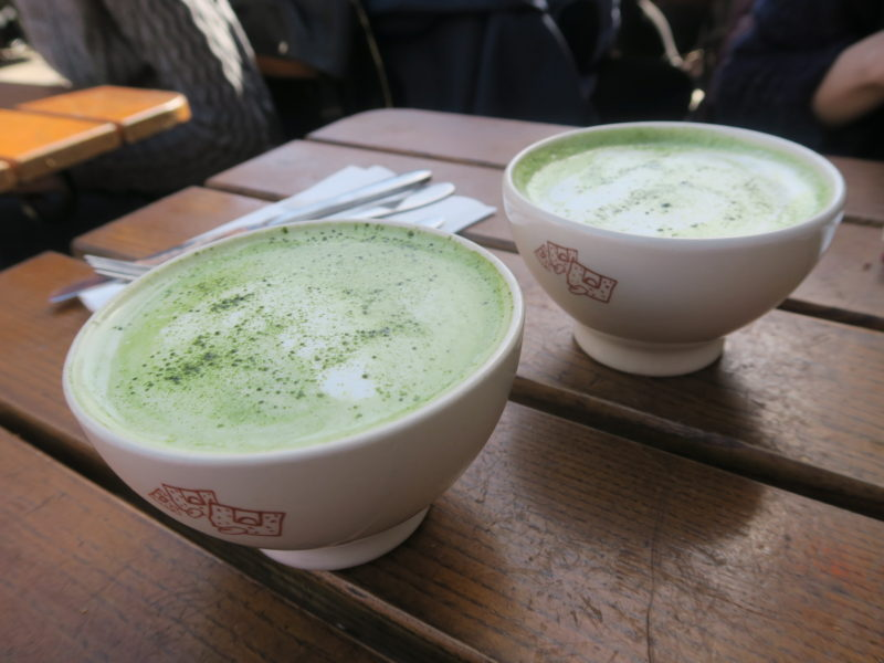 Matcha lattes Brunch at Le Pain Quotidien