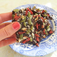 Skinny chocolate nuts and seeds bars
