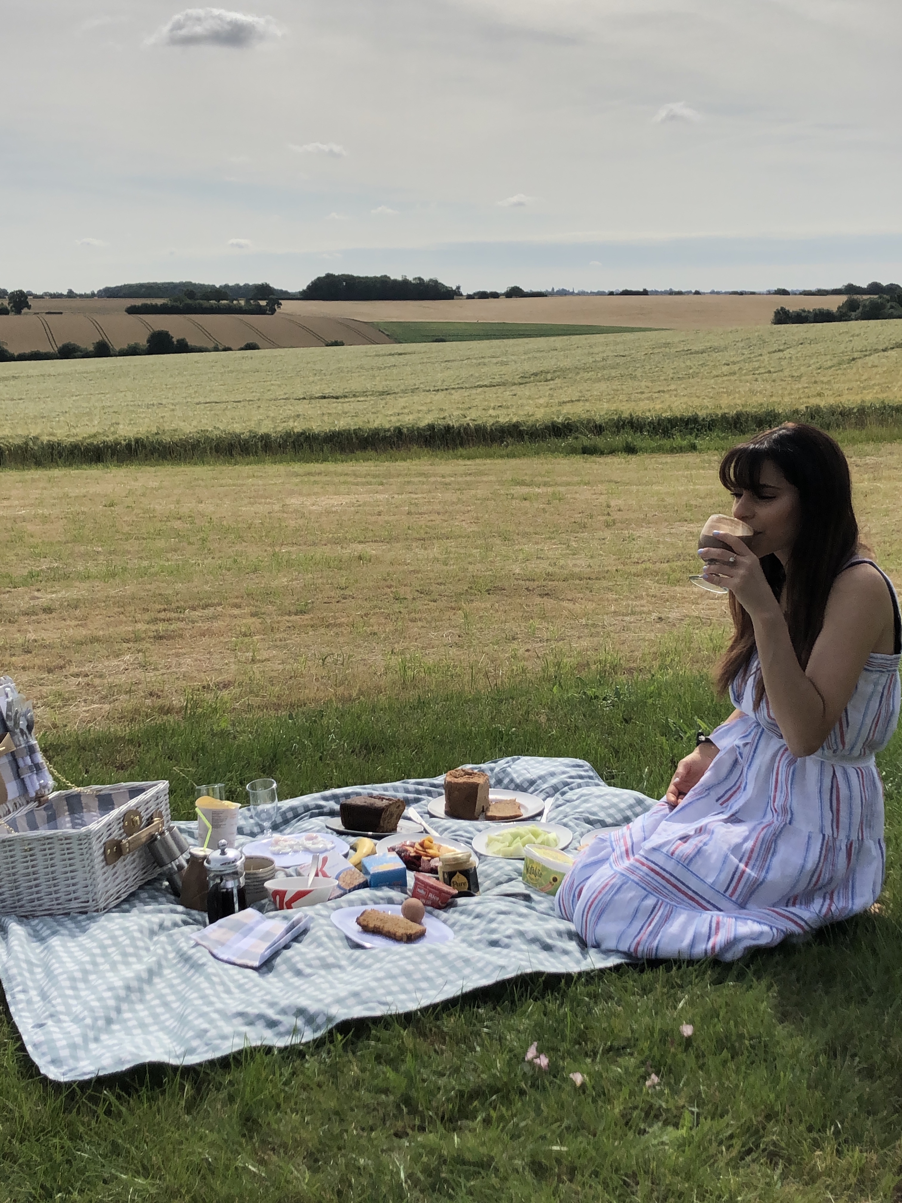 the cutest hide away countryside picnic